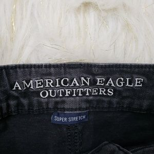 American Eagle Outfitters Shorts - AEO Super Stretch Midi Distressed Jean Shorts